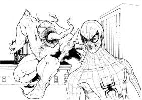 Spiderman VS Venom by SebGobb