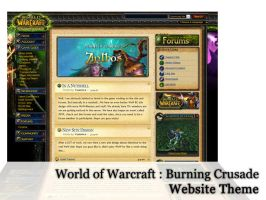 Website WoW BC Theme by FusionIce