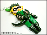 Green Arrow Necklace by GrandmaThunderpants
