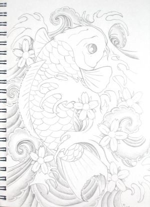 Fish Koi Tattoos Japanese Koi Fish Tattoos Design.Fish Koi Tattoos Meaning