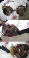First Steampunk Goggles by Malla13