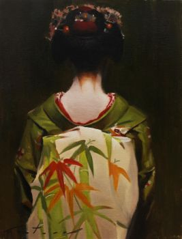 The Scarlet Fringe (Haru) - japanese maiko by philcoutureart
