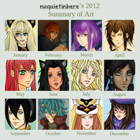 2012 Summary of Art by noquietinhere