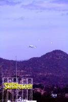 Space Shuttle flies over Hollywood, Ca. 5 by Pabloramosart