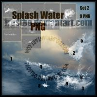 Water Splash Effect SET 2 PNG by FrostBo