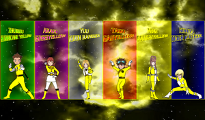 Digimon Gokaiger All Yellows for Asrockrpg by rangeranime