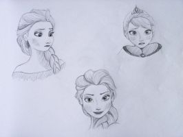 Elsa Sketchdump 3 by TheFixerUpper