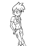 Female Johnny test- lines by kei-chan96