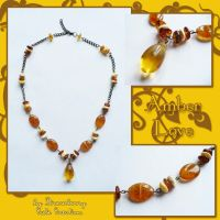 Necklace - Amber Love by SCCreations