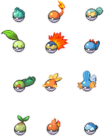 Pokemon themed Pokeballs by LiAM-S