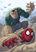 Sandman vs Spidey by RyanKinnaird