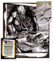 World of Fantasy Cthulhu z sketch card by Kapow2003