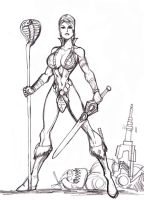 Teela pencils by johnnyharadrim