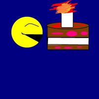 PAC MAN MEETS CAKE by Bluedragon85