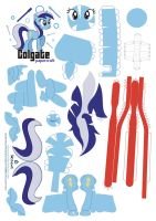 Colgate Papercraft Pattern by Kna