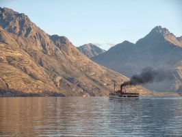 Earnslaw on Lake Wakatipu comes to Queenstown by Deceptico