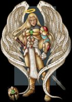 archangel uriel  -  commission by nightwing1975