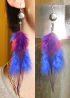 Unique Feather Earrings 9 by SPPlushies