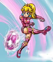 Peach Kicking  ball by Shayeragal