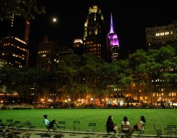 Bryant Park NY - night by wildplaces