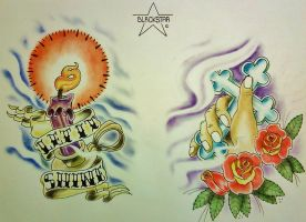 Religious Color Flash Sheet - by Blackstar by 814CK5T4R