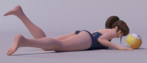 Hitomi 3DS Render 17 by x2gon