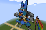 Minecraft Pixel Art: Lucario by gunray10