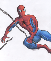 Spidey -hand drawn- by PokeTheCactus