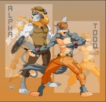 Alpha and Todd by ElectricDawgy