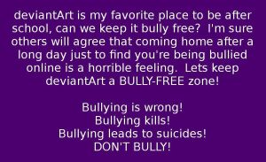 Spirit Day On dA - Bullying Is Wrong! by Willowkit17