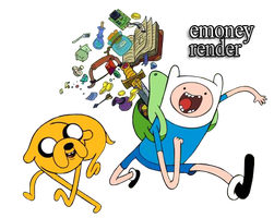 Finn and Jake Render by eMoneyGraphix