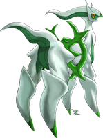 Arceus Grass Type by Xous54