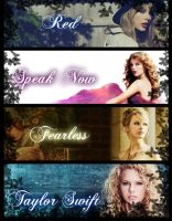 Taylor Swift Albums by TaylorSwift-Red