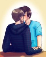 Ian x Anthony kiss by GothicShoujo