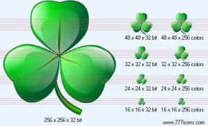 Clover leaf Icon by medical-icon-set
