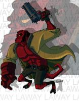 Hellboy 2D by AngelCrusher