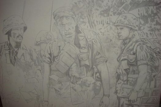 Platoon sketch for painting by jonnykill