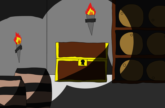 Daily Art #3: Dark and Spooky Basement by MikePodgor