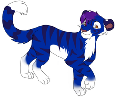 Blue Tiger Design by Kainaa