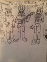 Five Nights at Freddy's 2 WIP by Dustyfootwarrior