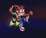 Crash Bandicoot 2 AGDQ 2017 by happydoodle
