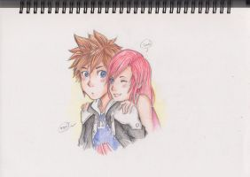 Sora and Kairi by AlbertRemong