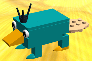 LEGO Perry the Platypus by HappyGhost71