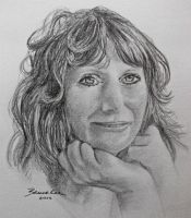 Portrait of a sweet lady by Witchartist