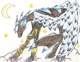 random winged wolf by Acer0
