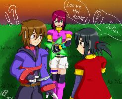 Request for Lady : Evil Julien , Miaka and Leila by Quote-J
