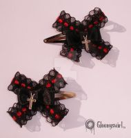 Elegant hair clips by Gloomyswirl