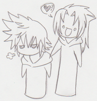 Xemnas and Roxas by Kaana-Chan