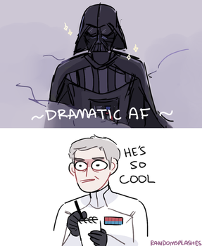 TAKING NOTES ON VADER'S DRAMATIC ENTRANCE by Randomsplashes