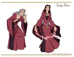Lady Bane redesigns by DionysiaJones